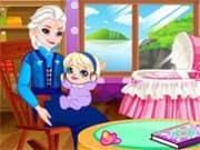 Juego Abuela Elsa Frozen Cuida a la Bebe