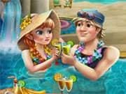 Juego Anna Frozen Celebracion en la Piscina