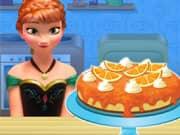 Juego Anna Frozen Cocinando Cake de Queso