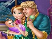 Juego Anna Frozen and Kristoff Cuidando al Bebe