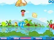 Juego Aventura de Dora en paracaidas