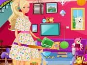 Juego Barbie Living Room Cleanup