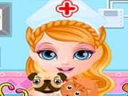 Juego Bebe Barbie Hospital de Mascotas
