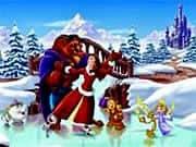 Juego Bella y Bestia Pantinado en la Nieve