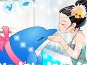 Juego Besos del Delfin en el Acuario