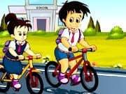 Juego Carrera de Bicicletas a la Escuela