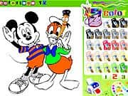 Juego Colorear a Mickey Mouse con Pato Donald