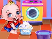 Juego Cute Baby Washing Clothes
