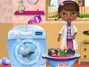 Juego Doctora Juguetes Lavando Ropa