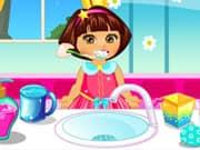 Juego Dora Baby Caring