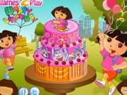 Juego Dora Birthday Cake Decor