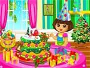 Juego Dora Christmas Cake
