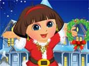 Juego Dora Christmas Dressup