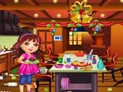 Juego Dora Limpieza de la Cocina para Navidad