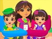 Juego Dora Twins Babysitter