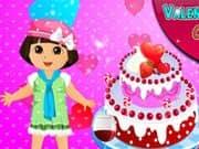 Juego Dora Valentine Day Cake