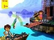 Juego Dora y Diego de Pesca