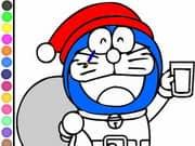 Juego Doraemon Coloring Papa Noel