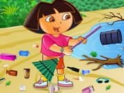 Juego Ecofreak Dora Cleaning Beach