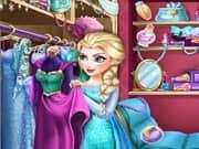 Juego El Closet de Elsa Frozen