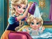 Juego Elsa Baby Wash