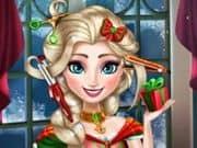 Juego Elsa Christmas Real Haircuts