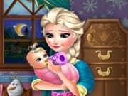 Juego Elsa Frozen Alimenta al bebe