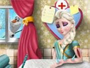 Juego Elsa Frozen Cirugia en el Brazo