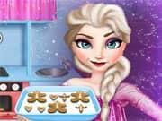 Juego Elsa Frozen Cocinando Pan de Jengibre