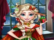 Juego Elsa Frozen Corte de Cabello para Navidad