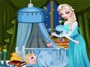 Juego Elsa Frozen Cuidado del Bebe