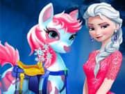 Juego Elsa Frozen Cuidado del Pony