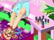 Juego Elsa Frozen Depilacion y Pedicura