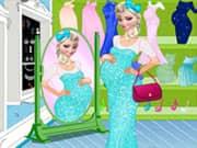Juego Elsa Frozen Embarazada Sale de Compras