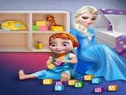 Juego Elsa Frozen Juega con Anna Frozen Bebe