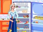 Juego Elsa Frozen Limpieza del Refrigerador