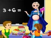 Juego Elsa Frozen Maestra Embarazada