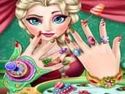 Juego Elsa Frozen Manicure de Navidad