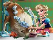 Juego Elsa Frozen Rescate de Sven