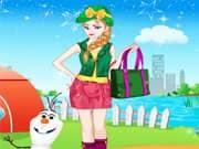 Juego Elsa Frozen Salir de Acampada