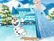 Juego Elsa Frozen Tropiezo en la Pista de Hielo