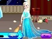 Juego Elsa Limpiando Habitaciones
