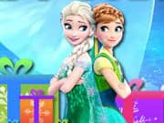 Juego Elsa y Anna Frozen columnas de Regalos