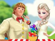 Juego Elza Frozen Rainbow Ice Cream Cooking