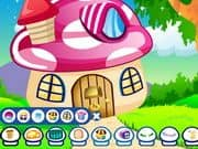 Juego Fantasy Mushroom Decoration