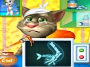 Juego Gato Talking Tom Cirugia en el Brazo