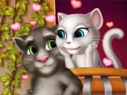 Juego Gato Talking Tom y Angela Enamorados