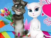 Juego Gato Talking Tom y Angenla Dia de los Enamorados