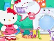 Juego Hello Kitty Dia de Lavanderia