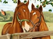 Juego Horses Art Book